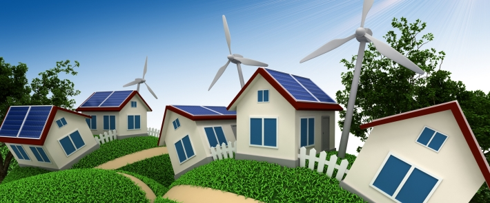 housing wind and solar