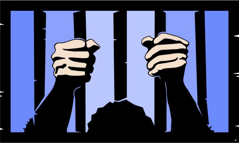 Behind bars. Picture credit: Clipart Kid
