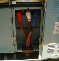 Typical example of a heat shrink air air insulated MV cable accessory
