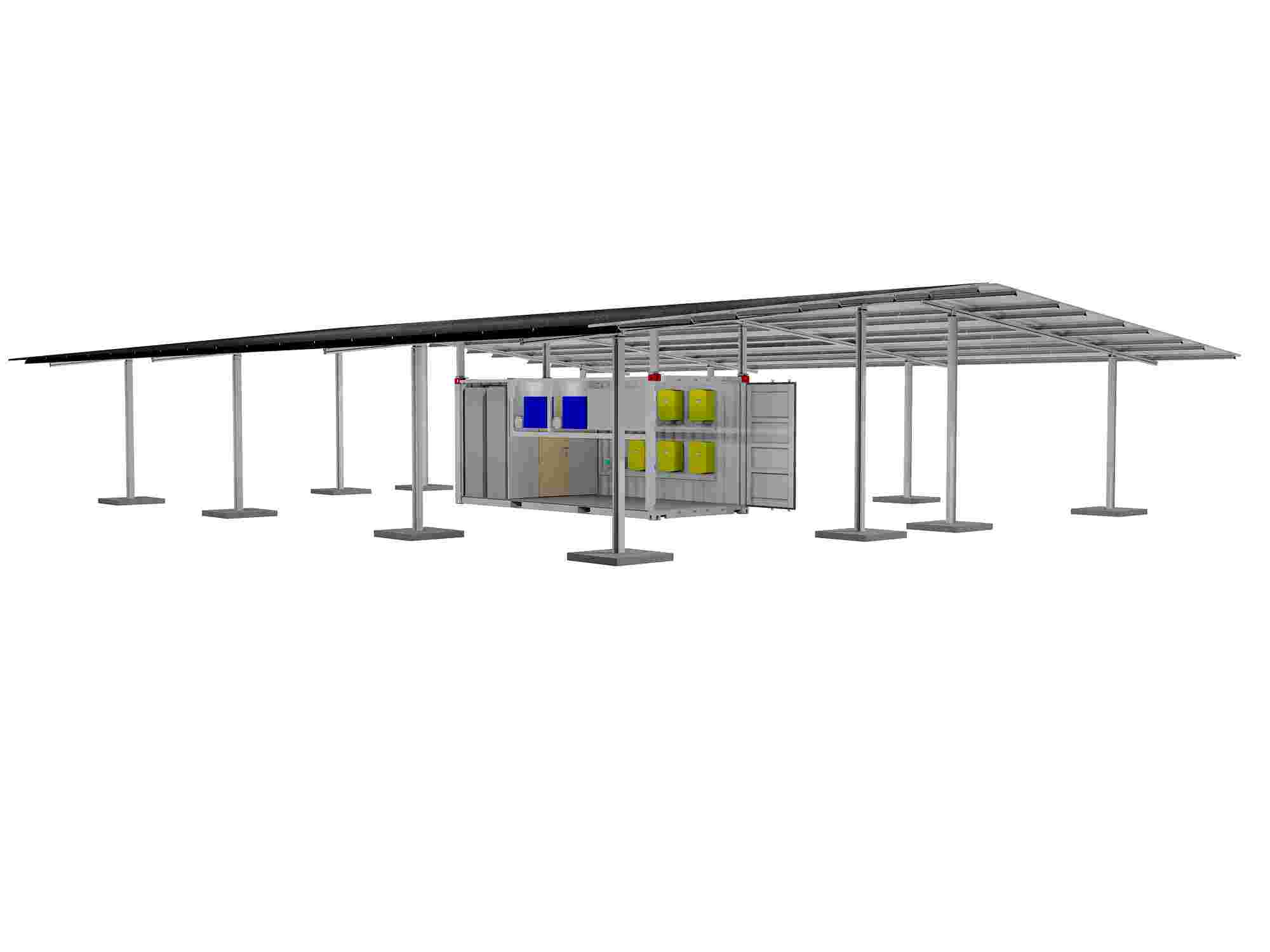 New Containerised Solar Energy Innovation Makes Market Entrance Build A Simple Powered Outdoor Light Dti Mini Grid System With 50kwp Of Pv And 150kwh Lithium Ion Batteries For Electrifying About 30 Households
