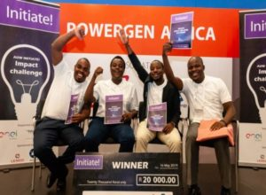 Initiate Young Talent Challenge 2019 winning team from Strathmore University