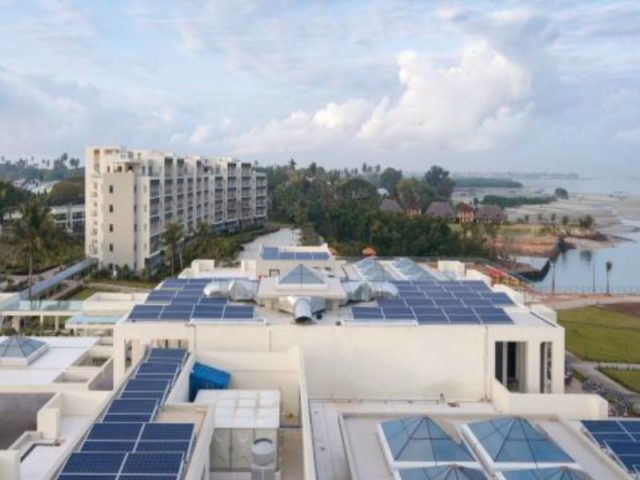 sustainable businessRoof space is not wasted thanks to the solar panels in Zanzibar. Source: Verde Hotels